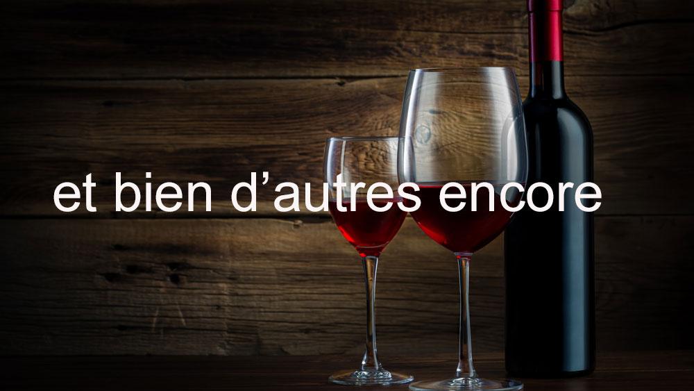 la carte des vins autres vignobles