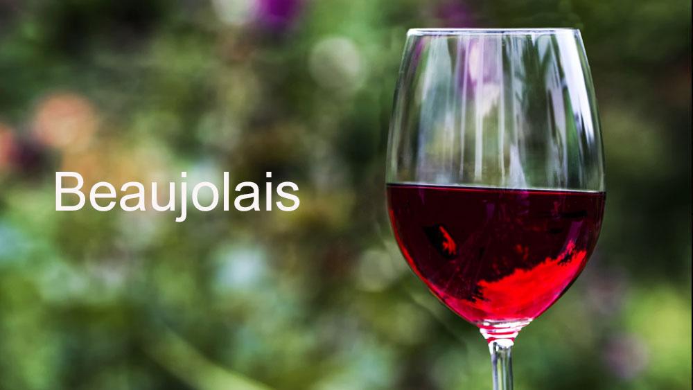 la carte des vins beaujolais