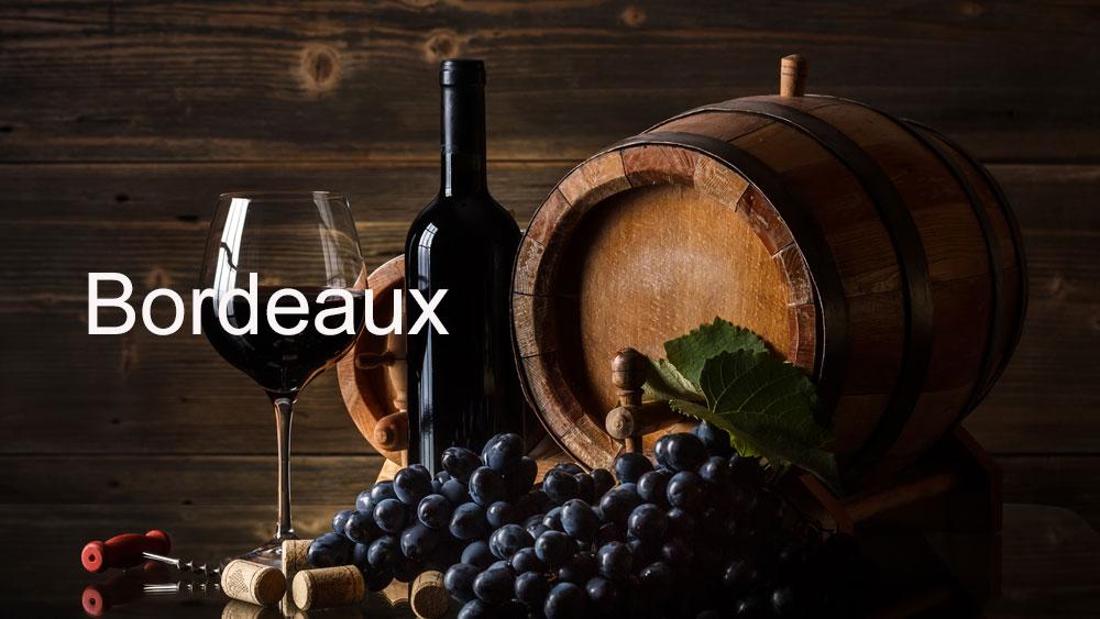 la carte des vins de bordeaux