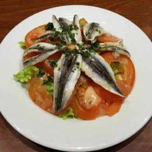 salade de tomates et anchoissalade de tomates et anchois frais