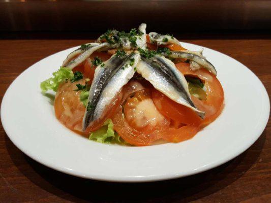 salade tomates anchois frais