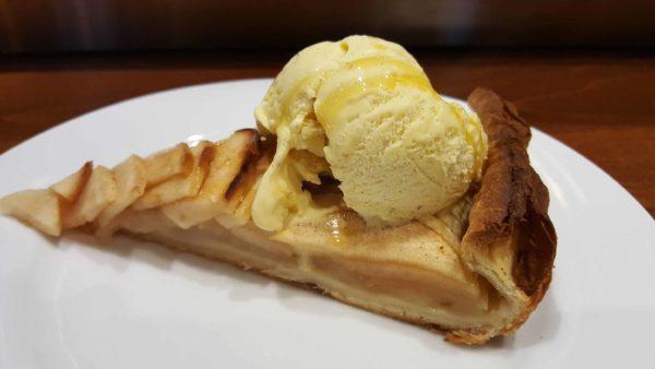 tarte aux pommes maison glace vanille