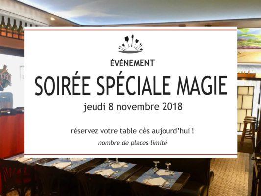 Soirée Spéciale Magie jeudi 8 novembre 2018