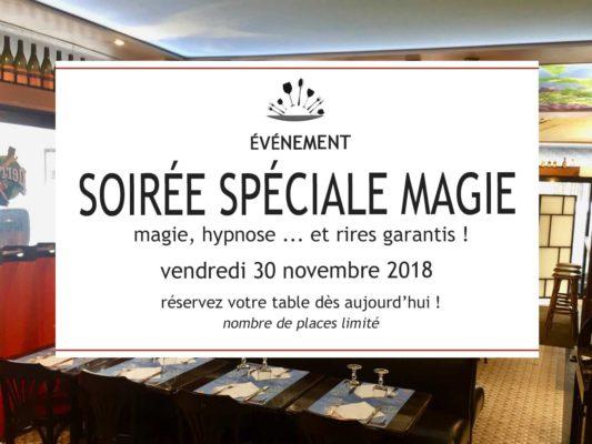soirée Spéciale Magie vendredi 30 novembre 2018