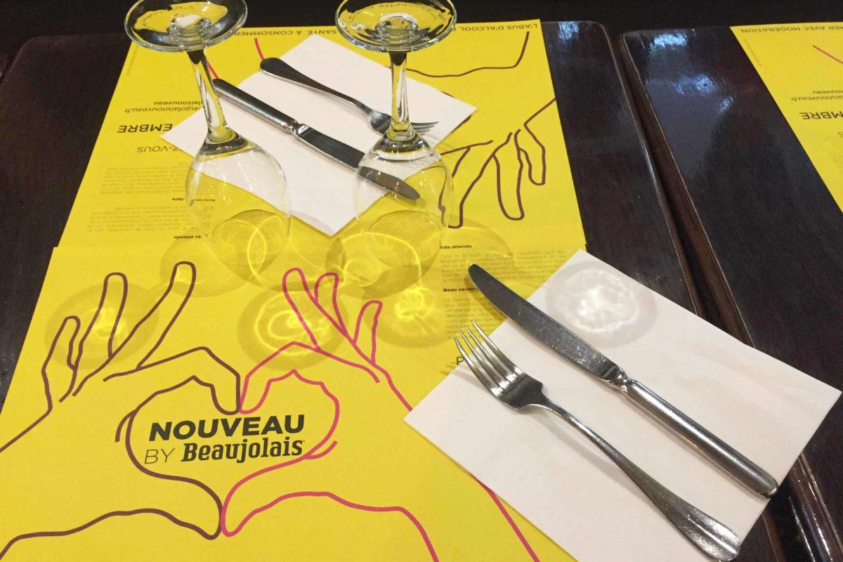 set de table pour le Beaujolais nouveau 2018