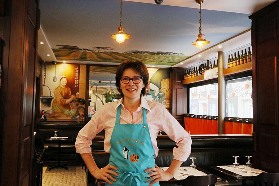Edith Falies au restaurant Le Coin Paris
