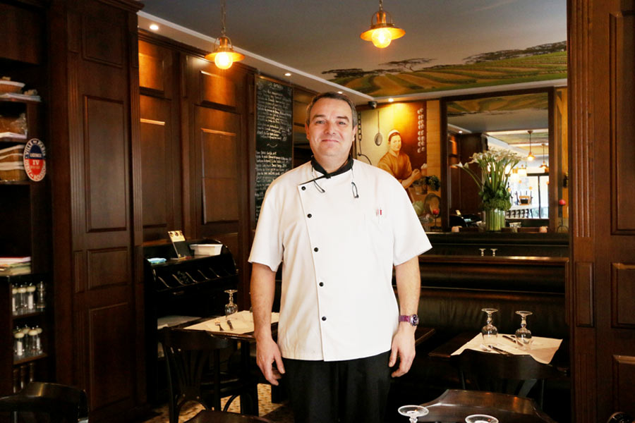 Thierry Hingamp au restaurant Le Coin