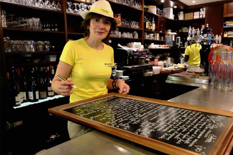 beaujolais nouveau Edith au restaurant Le Coin