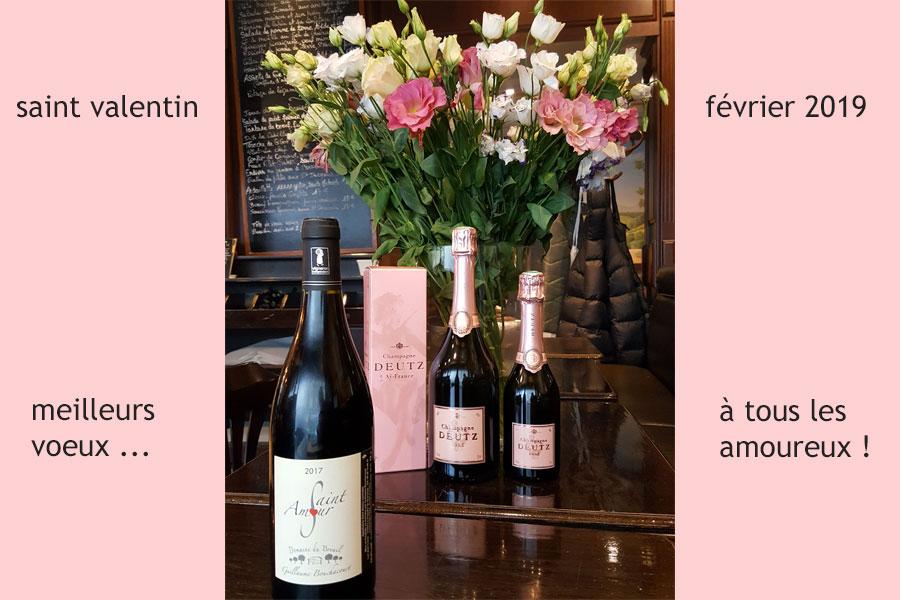saint valentin février 2019 - Champagne et Beaujolais Saint Amour