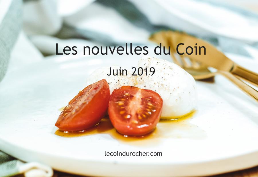Juin 2019 Newsletter Le Coin Paris restaurant June 2019