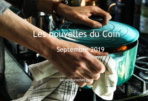 newsletter restaurant Le Coin : septembre 2019