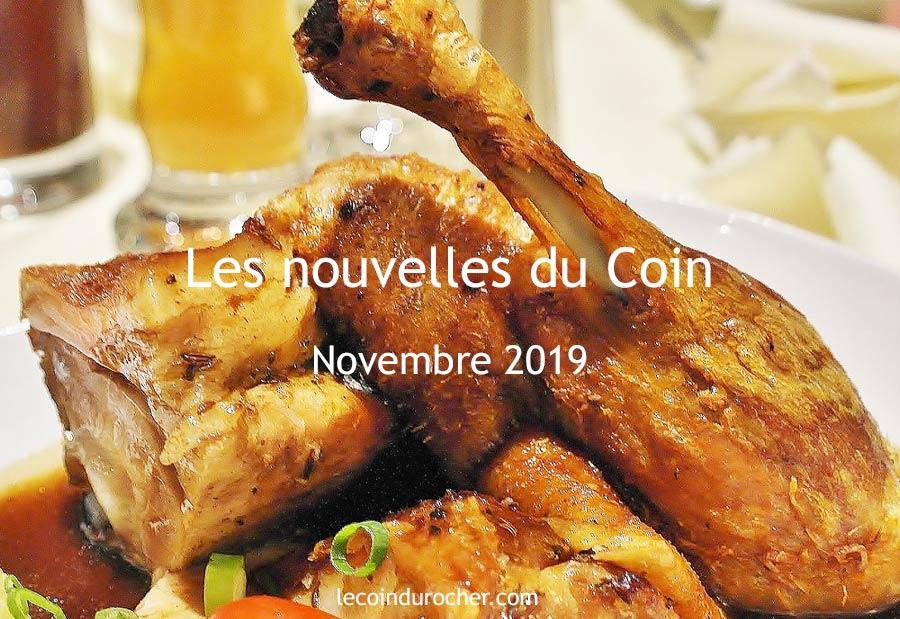 Le Coin Paris - newsletter novembre 2019